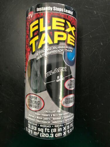 "Flex Seal Flex Tape Flexible Sealing Adhesive Tape 8"" x 5"