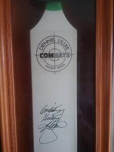 Dennis lillie signed aluminium cricket bat and signed baggy green Parmelia Kwinana Area Preview