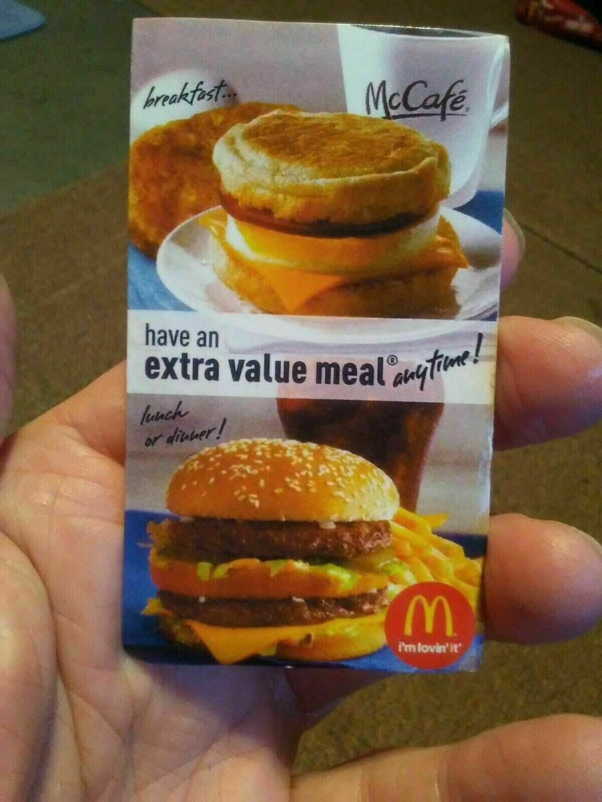Lot Of 10 McDonalds Combo Meal Card Voucher Certificates -Value Of 70-100.  - $18.00