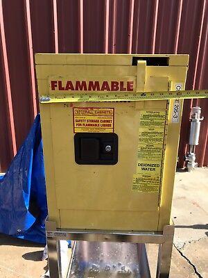 Saftey Storage Cabinet Flammable Liquids NFPA 30 OSHA Secure All 4 Gal on (Osha Flammable Storage)