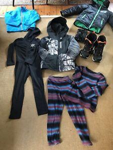 Boys snowboard ski snow gear size age 7-10 BULK LOT
