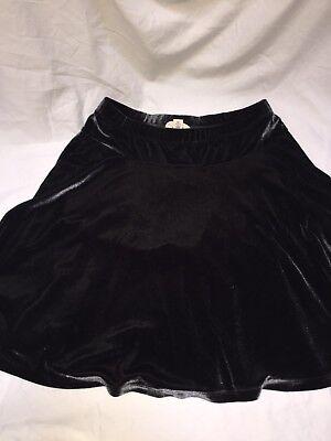 (Lands End Kids Size Large Black Velvet Holiday Skirt)