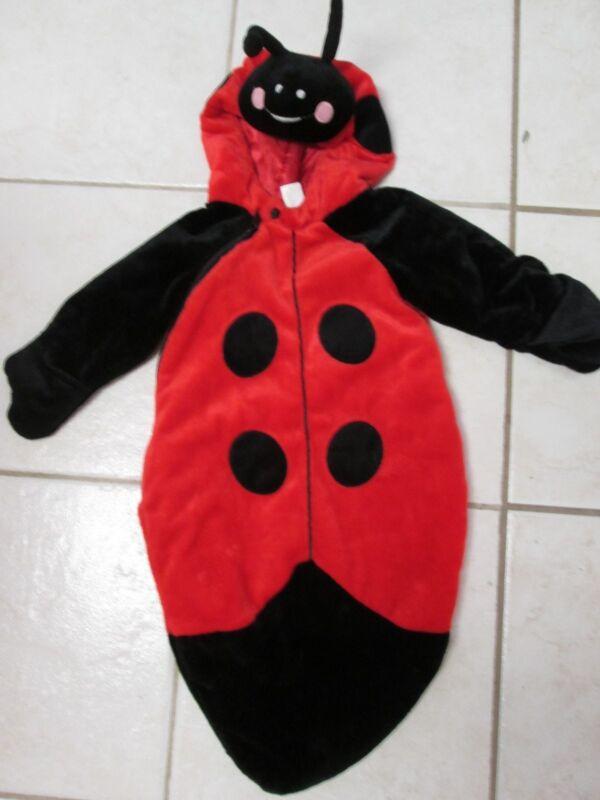 Plush Infant Bunting Ladybug Costume Sz 6-9 Months Super Soft & Warm Vguc