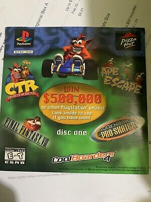 Sony Playstation PS1 Pizza Hut Demo Disc 1 CTR Final Fantasy VIII Ape NOS