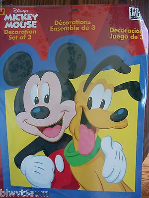 DISNEY GANG PACK OF WALL CUT OUT DECORATIONS-RARE PARTY THEME (Mickey Mouse Party Theme Decorations)