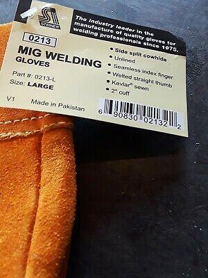 Steiner Industries 02132 Mig Tig Welders Heat Protective Gloves Large