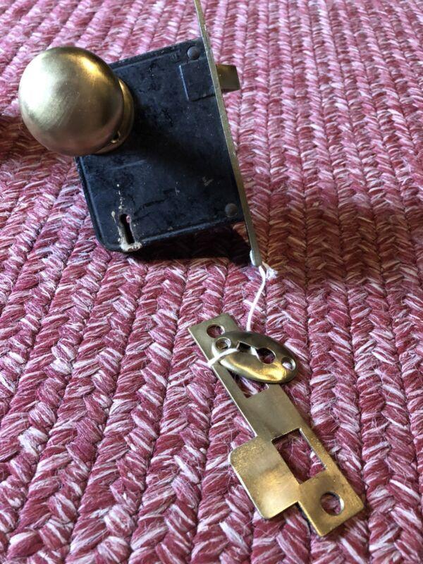 Pair Yale Mortise Locks Brass Vintage