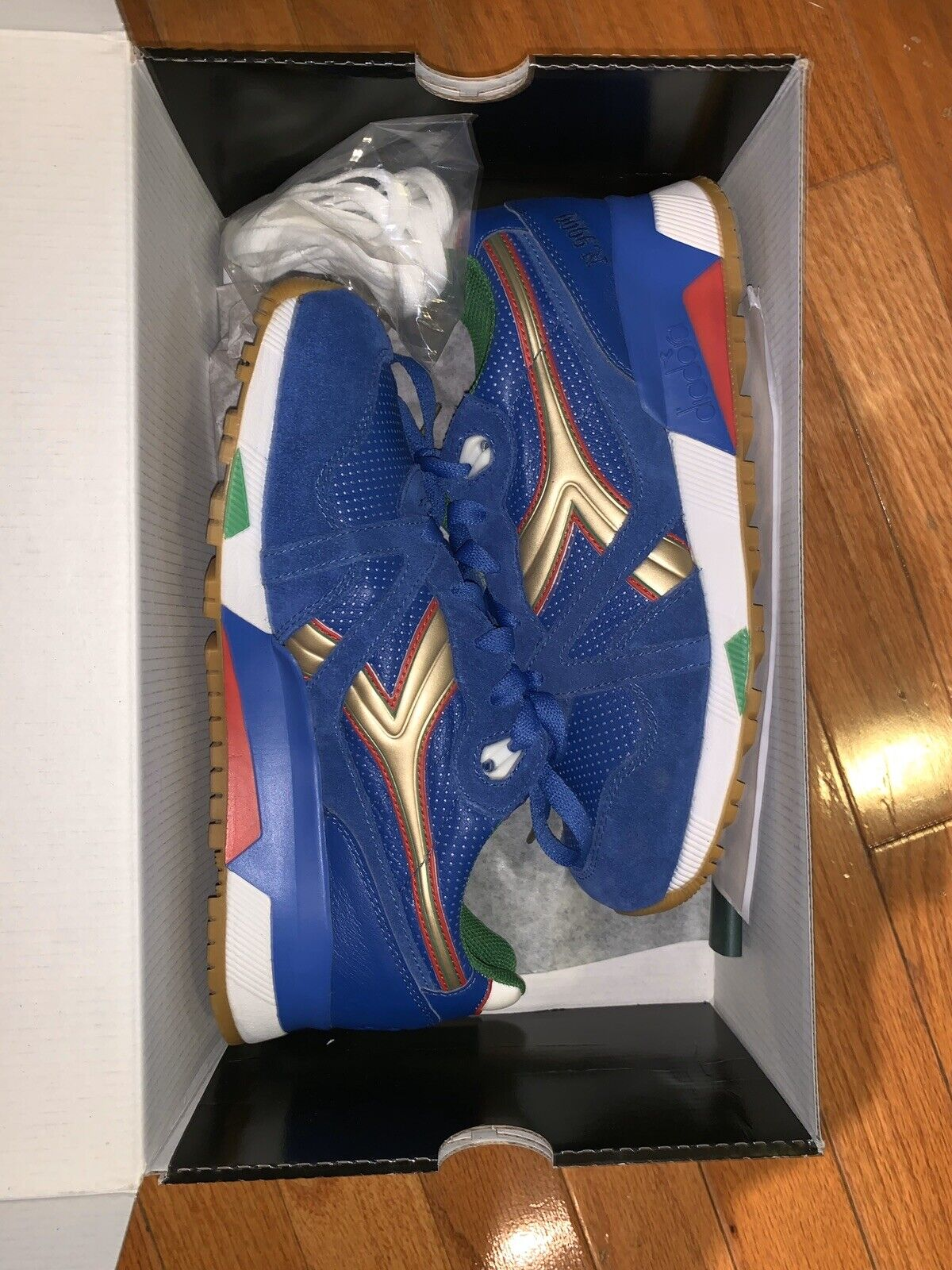 Diadora x Packer Shoes N9000 Azzurri Size 7.5 Olympian Blue Made in Italy