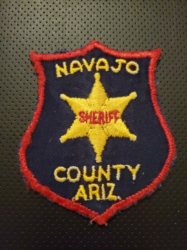 Lot Of 2 Navajo County Sheriff Patches,  Vintage,  Rare