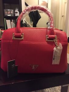 Guess Clara Satchel Bag - Red
