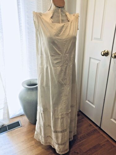 Antique Cotton Slip distressed, as is