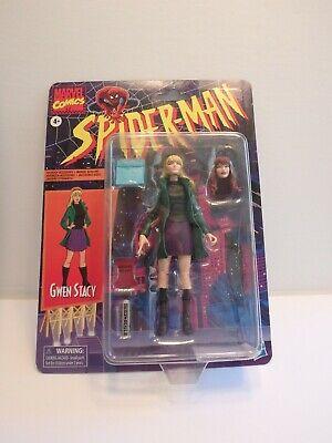 "Marvel Legends Gwen Stacey, Spiderman Retro Wave 1, 6"" figure Mary Jane Head MOC"