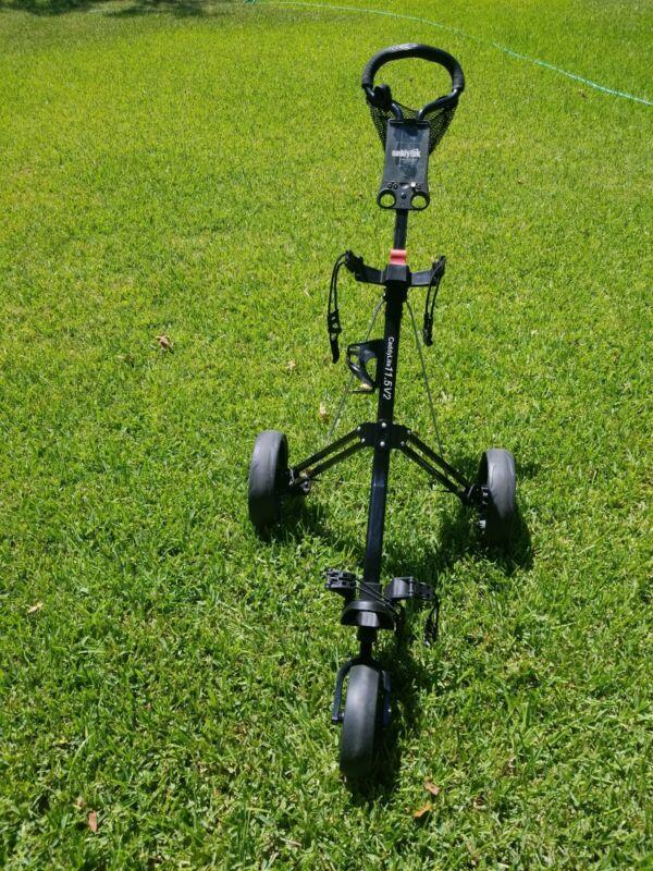 Fathers Day Caddytek Caddylite 3-Wheel Golf Push Cart 11.5V2 Pull Cart Trolley 2
