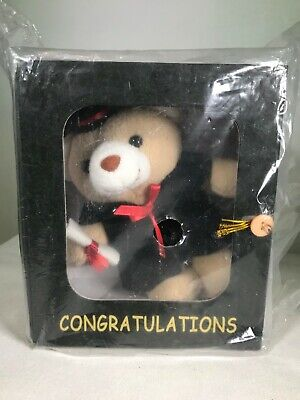 Amazing Graduation Dressed Cream Teddy Bear soft plush in Box Beautiful Present  Graduation Soft Bear