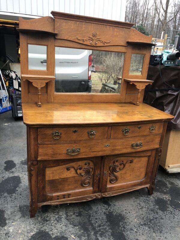 Victorian Oak Buffet Sideboard