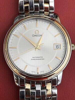 Mens Omega Deville Prestige 4300.31.00 18k Yellow Gold Steel Automatic Watch.