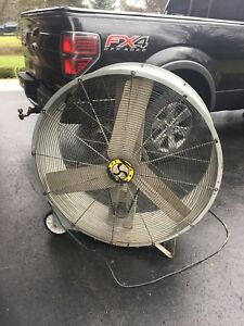 High velocity drum fan