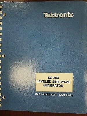 Tektronix Sg 503 Leveled Sine-wave Generator Instruction Manual Rev Oct 1983