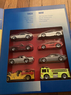 HOT WHEELS TARGET SPECIAL EDITION THEN & NOW COLLECTION WITH 2 FERRARI'S.