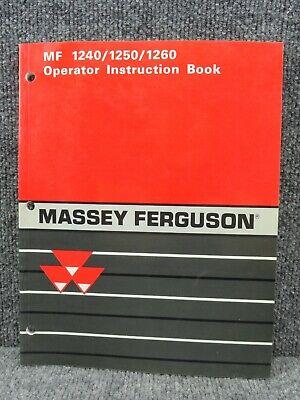 Oem Factory Massey Ferguson 1240 1250 1260 Tractor Operator Manual 1449725m2
