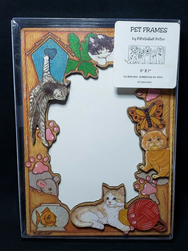Pipsqueak pets Kitty cat kitten Picture Frame pet frame Badenhop mouse 5 x 7