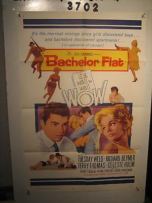 Bachelor Flat Orig, 1sh Movie Poster 62 Tuesday Weld & Richard Beymer kiss close