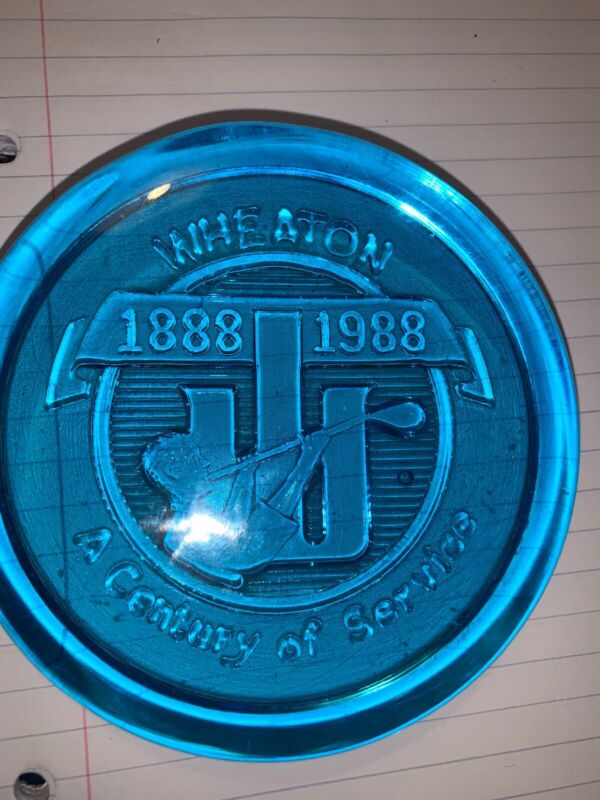 """Vintage WHEATON 4"""" A Century Of Service 1888/1988 Paper Weight"""