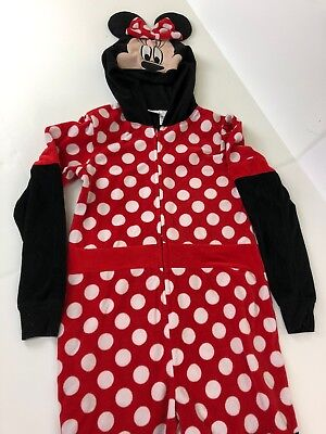 PJ Pajama Union Suit 1 Piece Halloween Costume Disney Minnie Mouse Size S 4 6 H3 (One Piece Pajama Halloween Costumes)