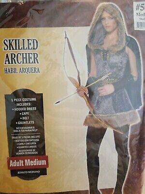 Womens Archer Costume (Skilled Archer Halloween Costume for Women, Medium)