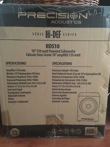 Authentic NEW Precision Acoustics Hi-Def HDS10 Subwoofer