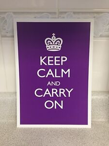 New keep calm and carry on Print home decor