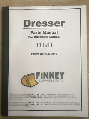 Komatsu Dresser Td9h Crawler Tractor Dozer Parts Book Manual Bepb472010