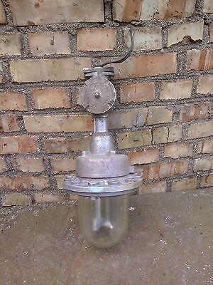 Vintage Industrial Explosion Proof Pendant Light Fixture steampunk