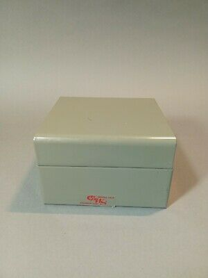 Vintage Gws Steel Business Card File Box Gray Made In The Usa Office Supplies
