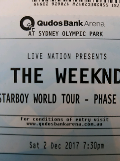 1 x GA Ticket to The Weeknd (Sydney - December 2nd)