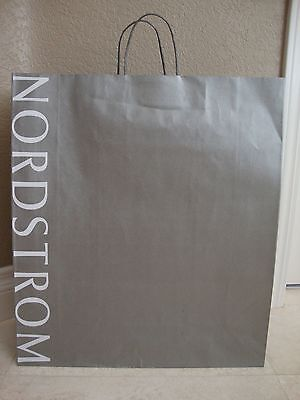 NORDSTROM 19X 16X 6 EXTRA LARGE SILVER PAPER SHOPPING GIFT BAG  - Large Paper Bags