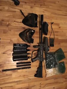 Tippman A5 paintball gun and Accessories