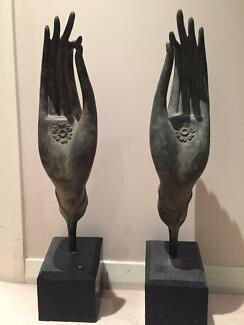 Balinese Metal crafted hands Waverton North Sydney Area Preview