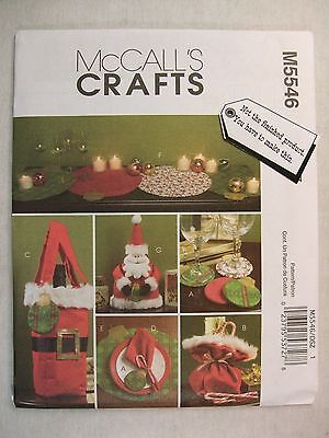 Santa Christmas Table Decor Sewing Pattern M5546 See Full Listing Info