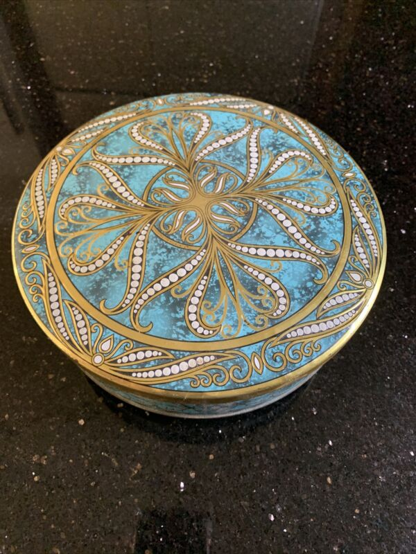 Cookie Tin-Vintage-Made In England-Lovely!