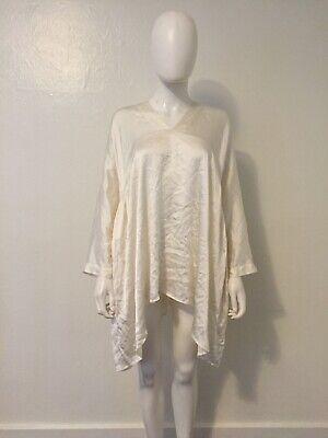 UMA WANG 100% SILK taci top tunic white oversized 2017 artisanal harnden dawson