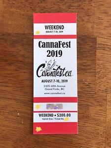 2019 CannaFest Weekend Ticket