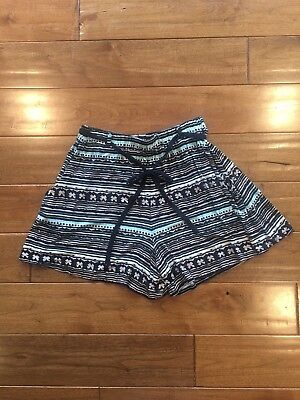 Anthropologie Lilka Shorts Jersey Knit Elastic Lounge Ethnic Belted Size Small Belted Jersey-shorts
