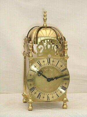 Smiths Lantern Clock Solid Brass Bell Striking Mantle Mantel Carriage 9