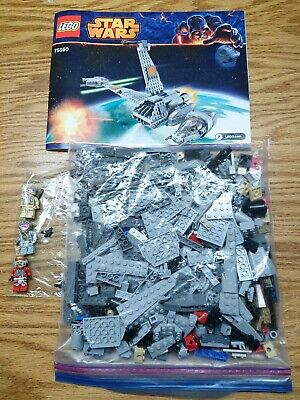 Lego Star Wars Set 75050 B-wing Starfighter Complete EUC Manual Minifigures!