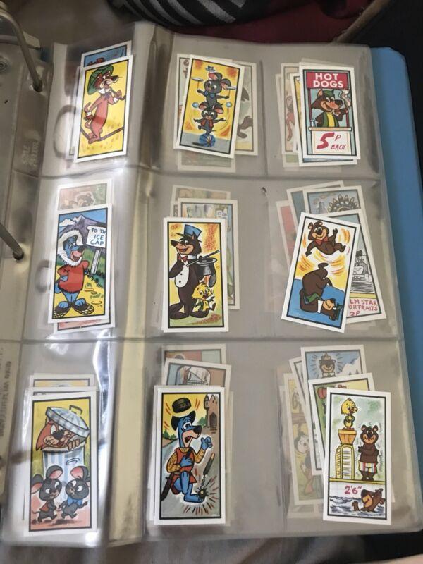 COMPLETE SET Vintage Yogi Bear and Friends Cards BARRATT Candy Hanna Barbera Set
