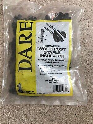 Dare Permatemp Wood Post Staple Insulator - No 1710 - Qty 50