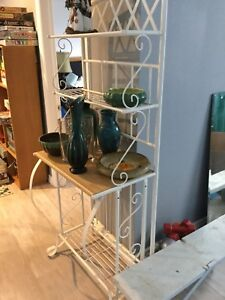 White Metal Baker's Rack, Very Good Condition