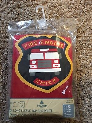 BabyGap Boys GAP 18-24 Months Pajamas Sleepware Firetruck Fire Chief Pajamas - Boys Sleepware