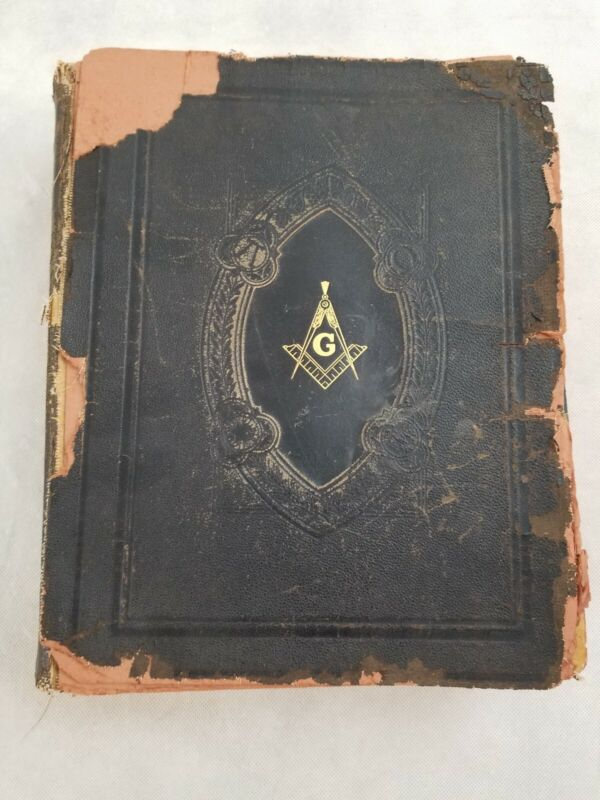 Holy Bible Red Letter Edition Masonic Edition Cyclopedia Indexed Hertel 1941